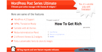 Post wordpress series ultimate