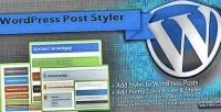 Wordpress post styler pretty plugin styles post
