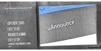 Premium uannounce wordpress for announcements