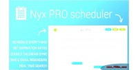 Pro nyx wordpress for scheduler