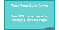 Quick wordpress admin