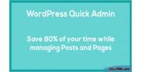 Quick wordpress admin