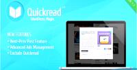 Quick wordpress read plugin