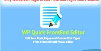 Quick wp frontend editor