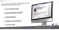 Quiz facebook plugin wordpress application