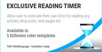 Reading exclusive timer