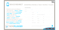 Redirect device wordpress redirect tablet phone