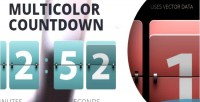 Resizable wp multicolor countdown