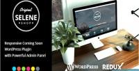Responsive selene coming plugin wordpress soon