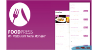 Restaurant foodpress menu plugin wp management