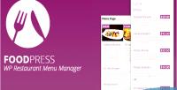 Restaurant foodpress menu plugin wp management