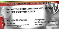 School wodpress timetable