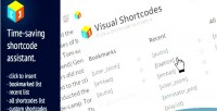 Shortcodes visual for wordpress