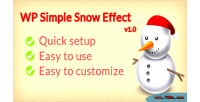 Simple wp snow effect