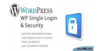Single wp login security