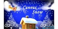 Snow canvas snow plugin wordpress fall