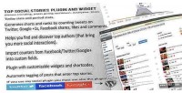 Social top stories widget & plugin