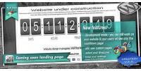 Soon coming landing plugin wordpress page