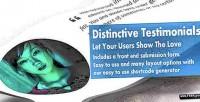 Testimonials distinctive testimonies wp powerful