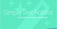 Text simple plugin wordpress rotator