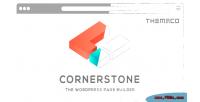 The cornerstone builder page wordpress