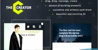 The creator visual page wordpress for builder