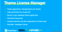 Theme tlm license manager theme code purchase verification redux w for extension