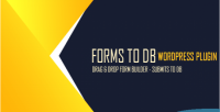 To forms db wordpress plugin save to forms in xls & db