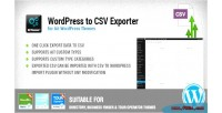 To wordpress plugin export csv