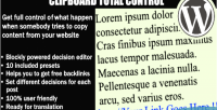 Total clipboard control control what when happen somebody copy wordpes text your