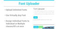 Uploader font