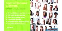 User quick export filter