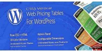 Css3 vertical web pricing wordpress for tables