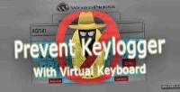 Virtual wp keyboard prevention keylogger login