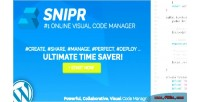 Visual snipr code wordpress for manager