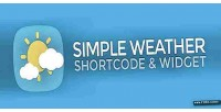 Weather simple widget shortcode wordpress