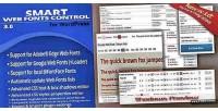 Web smart fonts control