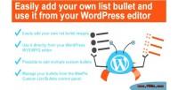 Weepie custom list bullets wordpress for plugin