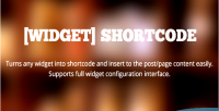 Widget shortcode insert widgets easily pages to