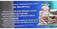 Wikipedia easy api wordpress for plugin