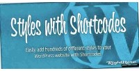 With styles wordpress for shortcodes