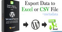 Wordpress data to excel file csv, wordpress