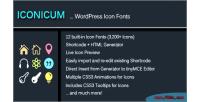 Wordpress iconicum icon fonts