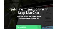 Wordpress leap plugin chat live