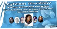 Wordpress myteam members book address staff
