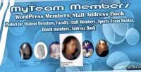 Wordpress myteam members book address staff