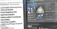 Wordpress php plugin forecast weather