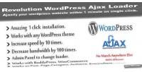 Wordpress revolution ajax loader