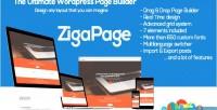 Wordpress zigapage page builder