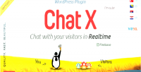 X wordpress chat plugin support sales for x